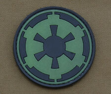 """PVC / Rubber Glow in the Dark Patch """"Imperial Logo"""" with VELCRO® brand hook"""