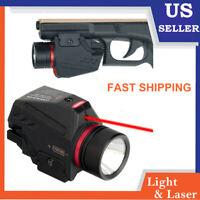 Red Dot Laser Sight Flashlight Combo Pistol 20mm Picatinny Weaver Rail Mount
