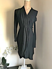 Whistles SZ 6 Robe Noire LBD Maillot à manches longues Casual