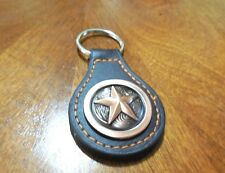LONE STAR LEATHER METAL KEY FOB CHAIN WESTERN BRONZE RING DESIGN