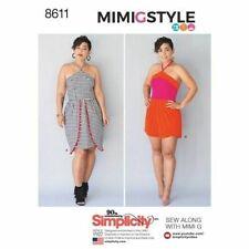 SIMPLICITY Sewing Patterns~8611 Miss Women Ladies Plus Dress+Romper 6-14 or16-24