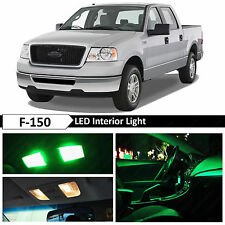 15x Green Interior Map Dome LED Lights Package Kit for 2004-2008 Ford F-150 F150