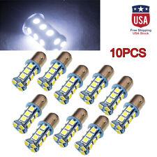 10Pcs Super White T25/S25 1157 Bay15d 18-SMD 5050 LED Tail Brake Stop Light Bulb