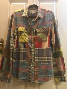 Vintage Denim & Supply Ralph Lauren Patchwork Shirt, S, Very Good Condition