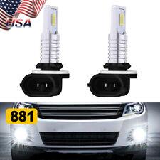 2X LED Fog Light lamp Bulbs Kit 881 6000K White 110W for 2005-2009 Kia SPECTRA 5