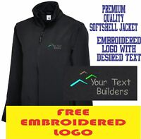 Personalised Embroidered Builder Softshell Jacket Construction Workwear