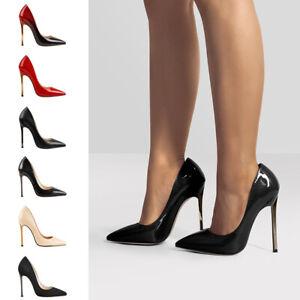 Onlymaker Femme Fashion Escarpin Talons Aiguilles 12cm Haut Bout Fermé Pointu