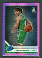 2019-20 CARSEN EDWARDS PANINI DONRUSS OPTIC HYPER RATED ROOKIE RC #196 PINK