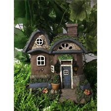 FAIRY GARDEN - Cottage with Solar Lights - New Garden Decor Figurines