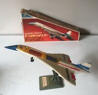 """ALPS JAPAN BATTERY OPERATED SUPER SONIC CONCORDE ~ WORKING ORDER ~ BOXED - c20"""""""
