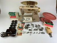"Singer Model 503a Slant-O-Matic ""The Rocketeer"" Sewing Machine With Foot Pedal"