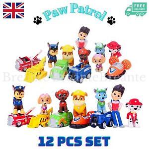 New 12pcs Paw Patrol Toys Action Figures Plastic Puppy Patrol Dog Kids UK SELLER