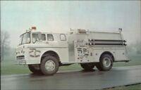 Red Bank TN Fire Engine c1970s Postcard