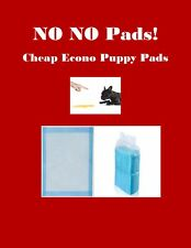 LOW COST Puppy PEE Pads Economy Grade & Quilted Asst'd Sizes Asst'd Quantities