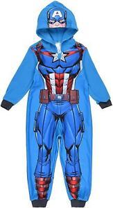 Boys HS2119 Marvel Avengers Hooded Fleece Sleepsuits / Pyjamas Size: 4-10 Years