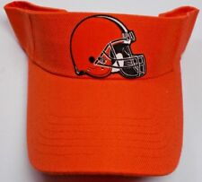 Read Listing! Cleveland Browns Heat Applied FLAT LOGO on Orange visor cap hat!