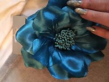 John  Lewis Wedding Satin Peony Hair Flower Clip Decoration Pin Corsage Brooch