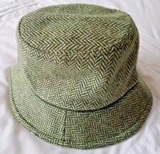 2c2f6eb3417d8 OLD NAVY Bucket Hat Wool Blend Green Herringbone Unisex Kids S M
