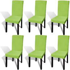 vidaXL gerader Stretch Stuhlbezug grün