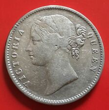 British India One Rupee Silver Victoria 1840
