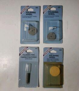 Dremel 425, 427 Emory Polishing, 429 Felt Polishing - LOT OF 4 - NEW OLD STOCK