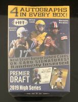 2019 Sage Hit Premier Draft High Series Football Factory Sealed Blaster Box Auto