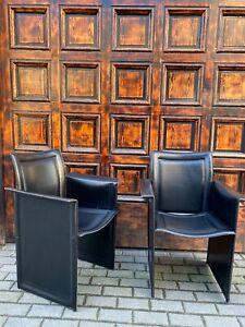 1/6 Calligaris Ledersessel Leder Stuhl im Matteo Grassi Stil Vintage Chair