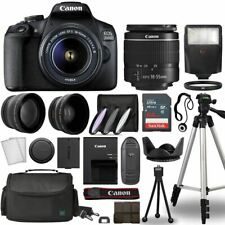 Canon EOS 2000D / Rebel T7 Digital SLR Camera Body w/Canon EF-S 18-55mm f/3.5-5.
