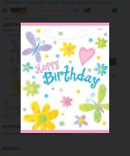"""""""CUTE BIRTHDAY"""" Party Supplies Plastic LOOT BAGS Favors"""