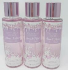 3 VICTORIA'S SECRET VELVET PETALS FROSTED FRAGRANCE MIST BODY SPRAY PERFUME
