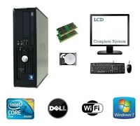 Dell - Core 2 Duo 8GB RAM 300GB HDD Windows 7 - Full Bundle Desktop PC Computer