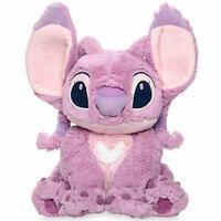Disney Store Atentic Lilo & Stitch 37cm Medium Pink Angel Soft Plush Toy