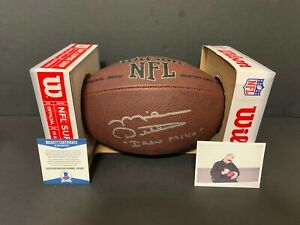 Mike Ditka Iron Mike Chicago Bears Autographed Signed NFL Football Beckett COA