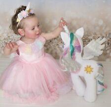 Oopsy Daisy Baby Girls Pink Pettiskirt Dress 18mo dress headband and shoes
