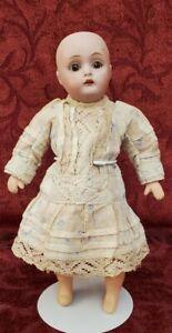 "Antique German Miniature Bisque Head 7.5"" Jointed Comp Body 155 Kestner Doll TLC"