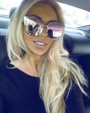 Sunglasses BARBIE Pink Princess Metal Cat Eye Oversized Mirror Lens Women ASTRO
