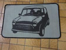 Retro Mini Auto corto Pila alfombra / alfombra antideslizante Gel posterior Gris Negro Nuevo
