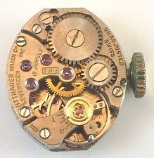 Vintage Wittnauer Ladies Wristwatch Movement - Caliber 5UNG - Parts / Repair