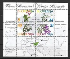 SLOVENIA Sc 196 NH ISSUE OF 1994 - SOUVENIR SHEET - FLOWERS