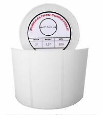 """3x1.5 (3"""" x 1-1/2"""") Direct Thermal Zebra Eltron Labels (1 Roll/950 Labels)"""