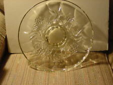 Pressed Glass Decorative tray 13 inch diameter Unused