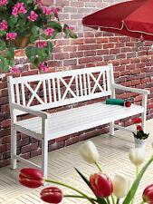 Gartenbank Sitzbank Holzbank Parkbank Bank Garten Balkon Weiß verschied. Größen