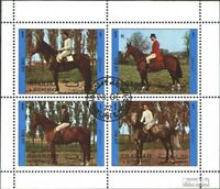 Sharjah 1296-1299 Sheetlet (complete issue) used 1972 Reiter