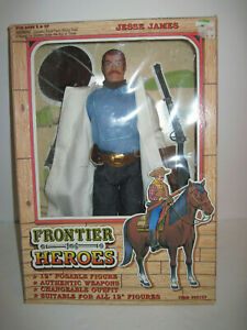 """Frontier Heroes Jesse James 12""""  Poseable Action Figure  1993 Brand New MIB"""
