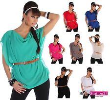 Hüftlange Kurzarm Damenblusen, - tops & -shirts im Tunika-Stil für Party-Anlässe