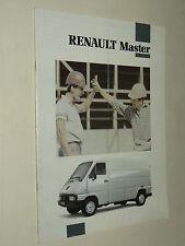 Prospectus Camion RENAULT MASTER Fourgon 1992 RVI prospekt brochure  truck LKW