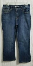 Chico's Platinum jeans. women's size 0.5 REG. 28x23. Dark wash. Whiskered
