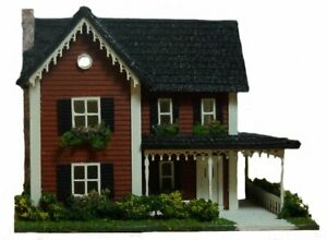 Dollhouse Miniature 1:144 Scale Country Style Farm House Kit Complete