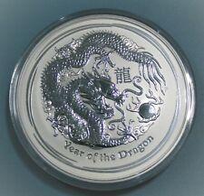 1 kg 2012 Year Of The Dragon Lunar Series 999 Silver Coin