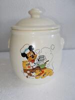 Vintage Treasure Craft Walt Disney Productions Mickey Mouse & Pluto Cookie Jar